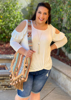 Arctic Twist Cold Shoulder Top