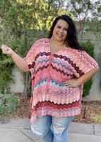 Beachy Waves Loose Fit Poncho