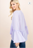 Breezy Lavender Bell Sleeve Top