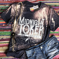 Midnight Toker Bleached Tee