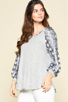 Wild Wonders Balloon Sleeve Top