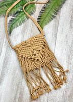 Hippie Chic Macrame Shoulder Bag