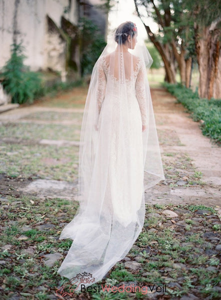 Romantic Illusion Tulle Boho Bridal Veil Online Wedding