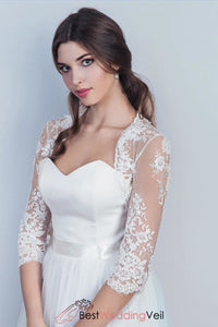 3-4-sleeves-lace-wedding-jacket-womens-white-bolero