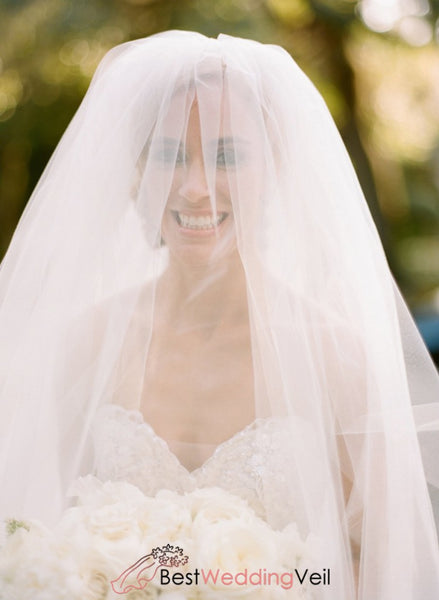 Smart Bridal Blusher Wedding Veil Style Cathedral Length Tulle