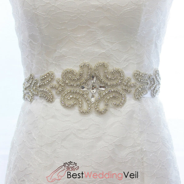 Shinny Diamond Bridal Belt Wedding Accessories Belts & Sashes