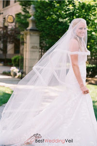 unique-design-organza-ribbon-edge-long-wedding-veil