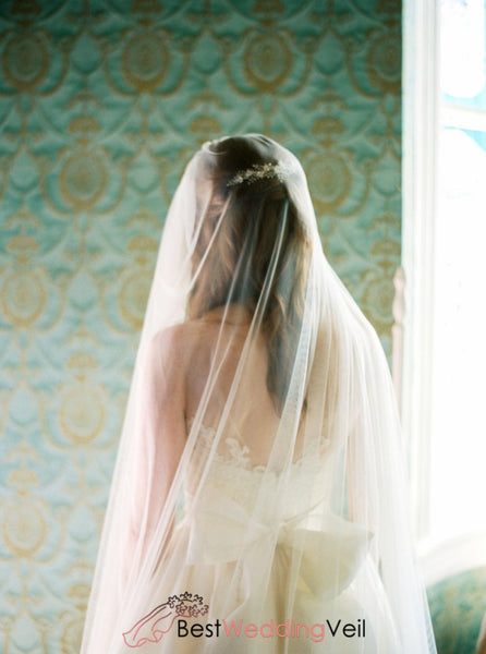 Simplest Soft Tulle Long Types Of Wedding Veil