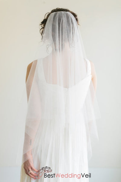 Delicate Drop Tulle Beach Boho Style Wedding Veil