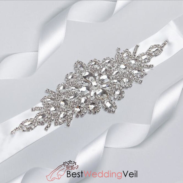 Handmade Rhinestones Wedding Belt Crystal Bride Sashes Belts &