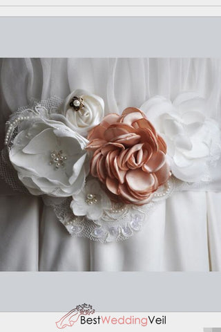 Flowers Wedding Sash Bridal Belt Satin Ribbon Bridesmaid Sash/belt Maternity Rustic Belts & Sashes