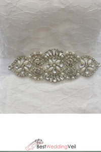 Vintage Inspired Bridal Belt Pearl Rhinestone Belts & Sashes