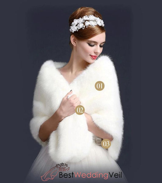 Winter Wedding Coat Faux Fur Warm Shrug&jacket Jacket&bolero