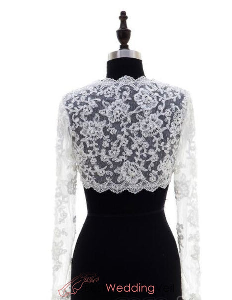 Long Sleeve Lace Bolero Jackets Wedding Jacket&bolero