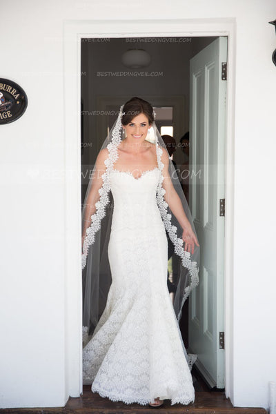 affordable-lace-appliqued-long-wedding-veil-without-comb-1