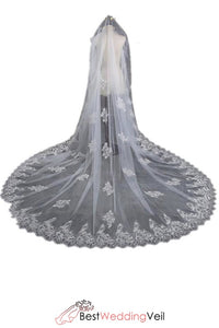 affordable-wedding-dresses-veils-appliqued-lace-long-veil