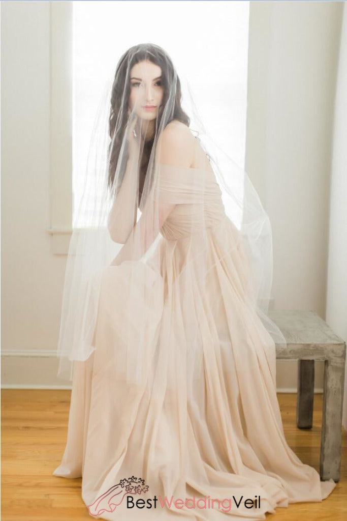 angel-cut-soft-tulle-drop-veil-wedding