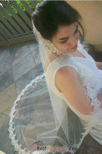 beaded-alencon-lace-mantilla-wedding-veil-one-tier-tulle