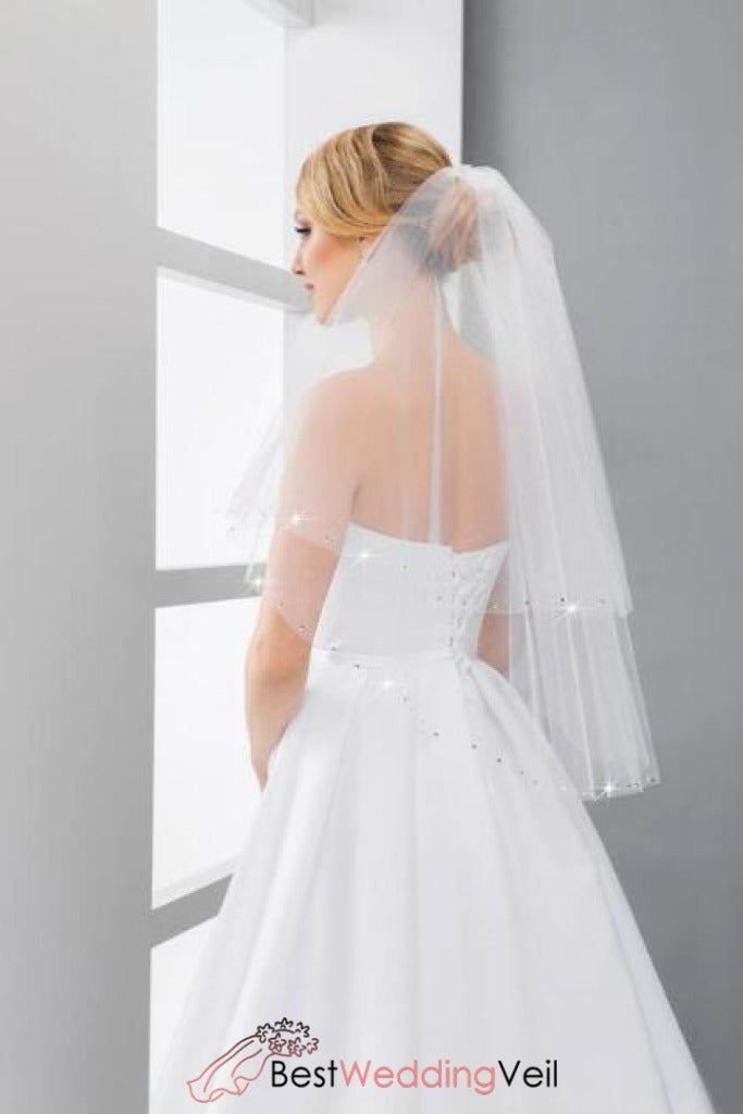 beaded-wedding-veils-with-comb-two-layers-tulle-cut-edge