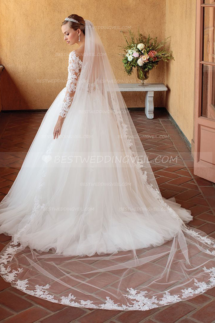 beautiful-appliqued-edge-ivory-veil-wedding-online