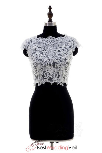 cap-sleeved-lace-wedding-separates-elegant-top-for-bride-bolero