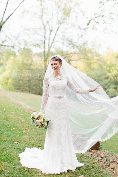 cathedral-length-1-tier-partial-lace-wedding-veil-ivory-1