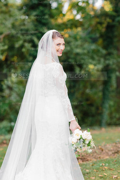 cathedral-length-1-tier-partial-lace-wedding-veil-ivory-3