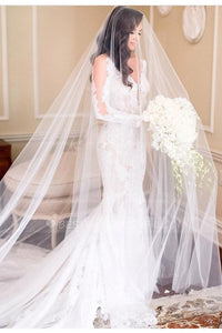 cathedral-length-outdoor-wedding-veil-one-layer-tulle
