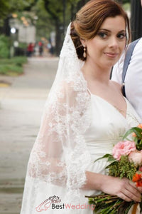 chantilly-lace-drop-style-veil-wedding