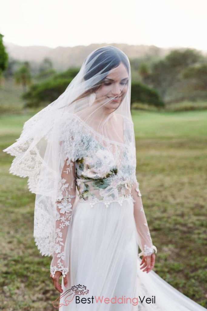 chantilly-lace-long-ivory-blusher-bridal-veil