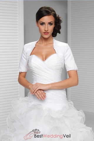 chic-simple-satin-wedding-jacket-with-lace-edged-short-sleeve-cover-up