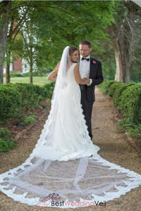 classic-long-tulle-white-wedding-veil-with-alencon-lace-edge