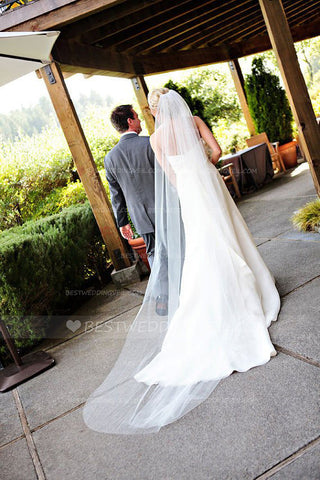 classic-one-tier-tulle-long-wedding-veils-ivory