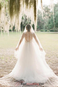 cut-edge-double-layers-tulle-blusher-wedding-veil-cathedral-length