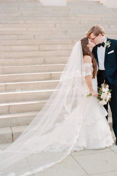 dotted-tulle-cathedral-wedding-veil-two-layers-tulle-1