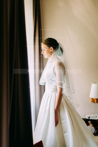 double-layers-short-veil-for-wedding-ribbon-edged