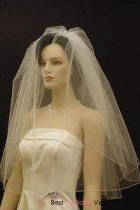 double-tiers-elbow-length-blusher-wedding-veil-with-pencil-edge