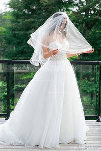 double-tiers-elbow-wedding-veil-with-netting-edge