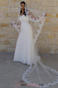 drop-style-face-blusher-ivory-long-wedding-veils-applique-trim