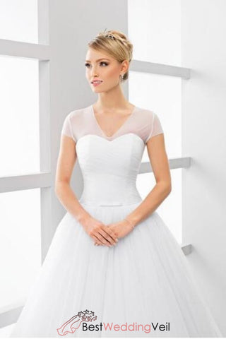 elastic-tulle-simple-bridal-v-neck-wedding-jacket-with-short-sleeves-1