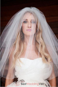 elbow-double-layer-two-tier-classic-wedding-veil-cheap-cut-edge