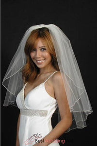 elbow-length-single-tier-wedding-veil-with-pencil-edging