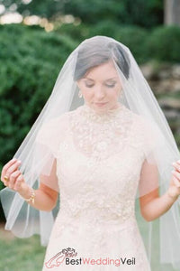 elegant-drop-soft-tulle-wedding-bridal-veil-fingertip-length