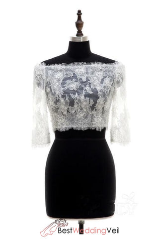fashion-3-4-sleeves-lace-top-off-shoulder-sexy-bridal-jackets