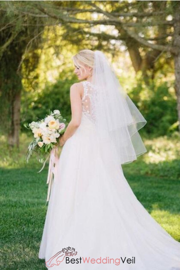 fine-tulle-short-wedding-veil-pattern-with-double-tiers