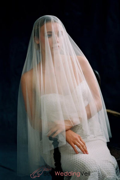 fingertip-drop-style-fine-tulle-simple-wedding-veil