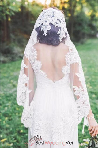 fingertip-single-tier-mantilla-lace-edge-wedding-veil