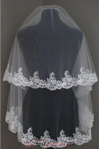 free-shipping-white-bridal-veil-2-tiers-lace-appliqued-drop-style