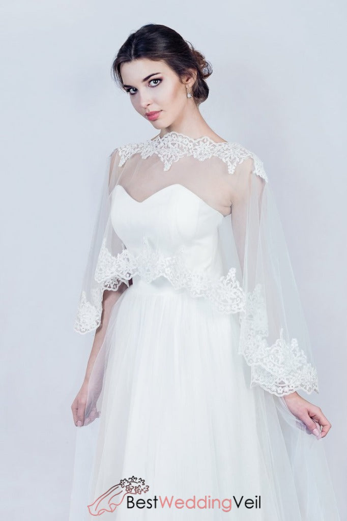 bridal-lace-cape-elegant-tulle-wraps-with-applique-edges