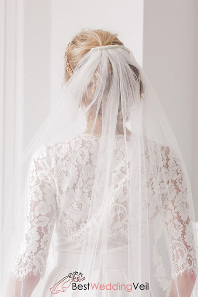 Single Layer Tulle Simple Wedding Bride Veil With Comb